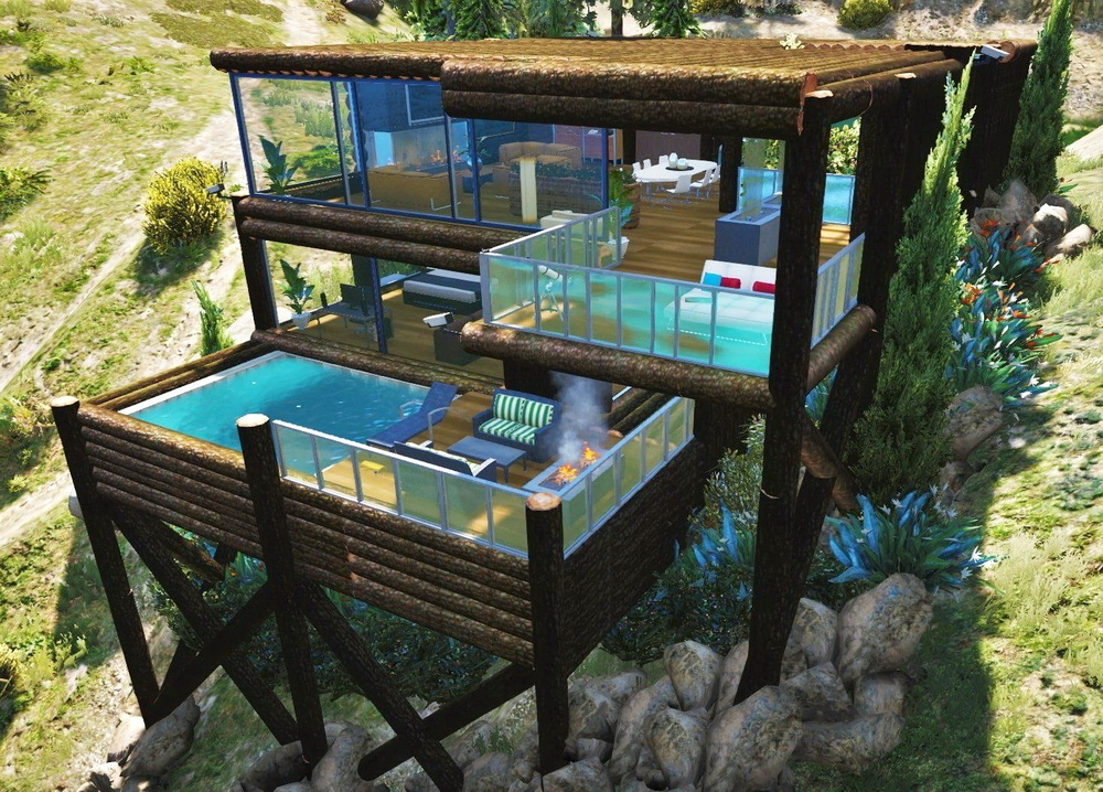 Бревенчатый дом для GTA 5