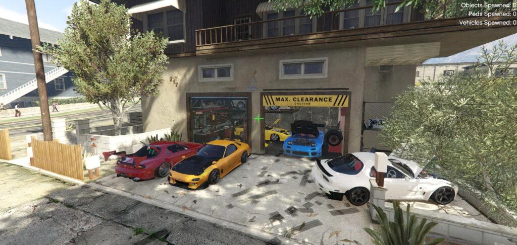 Japanese-style garage for GTA 5