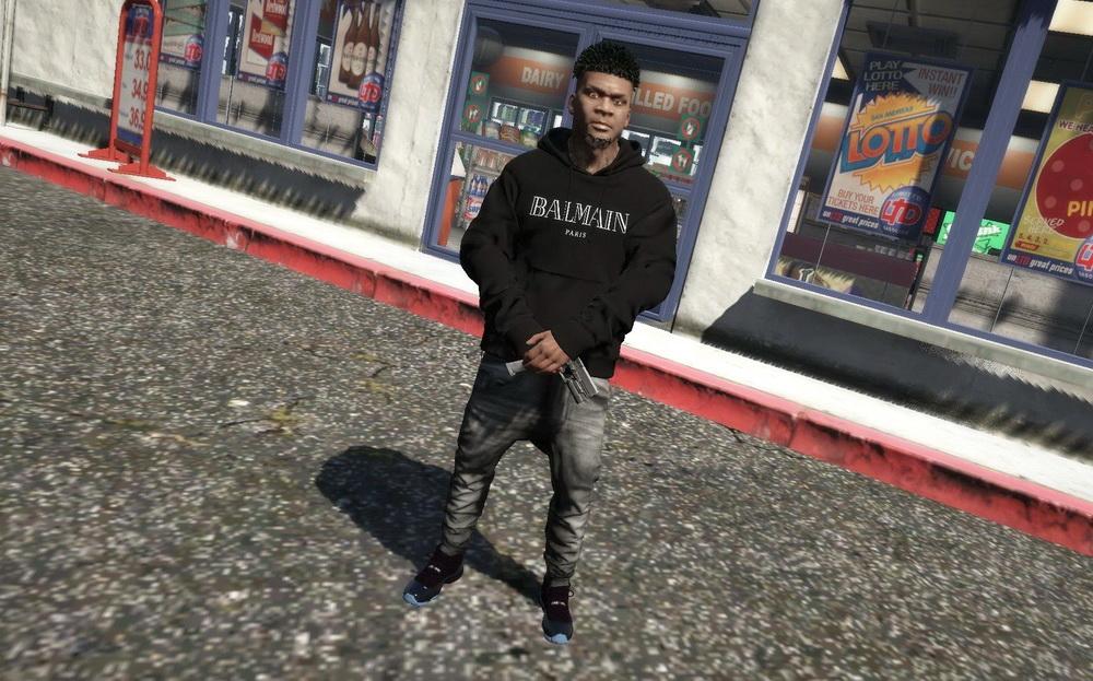 Balmain hoodie for GTA 5