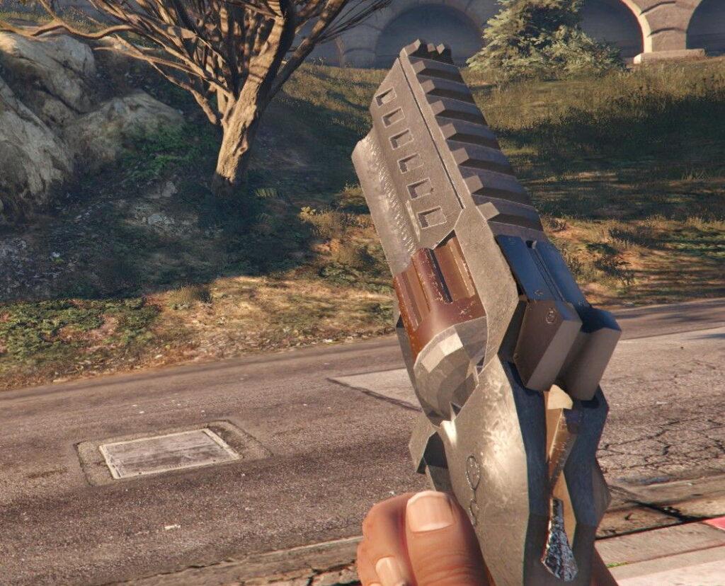 Револьвер Хеллбоя для GTA 5