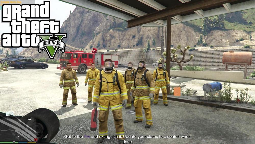 Работа пожарным для GTA 5